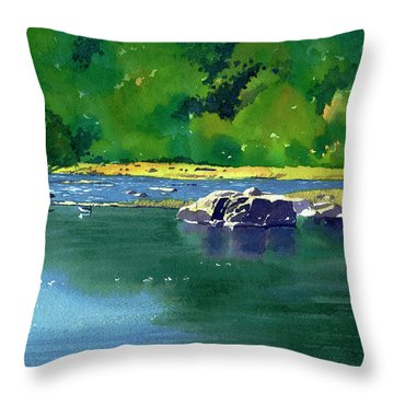 Geese On The Rappahannock Throw Pillow
