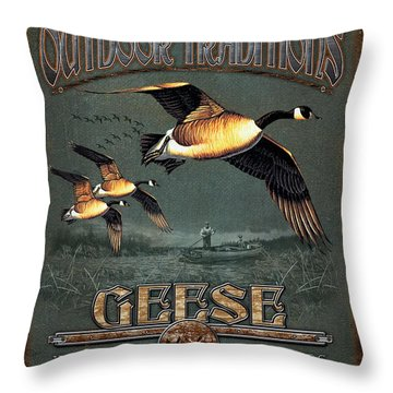Geese Traditions Throw Pillow