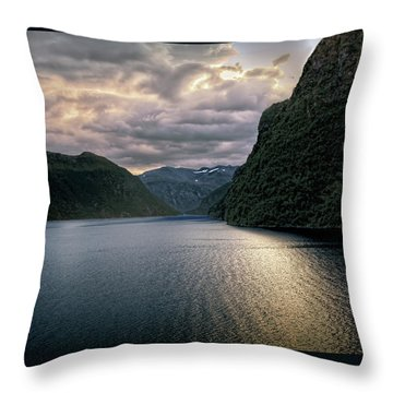 Geiranger Fjord Throw Pillow by Jim Hill