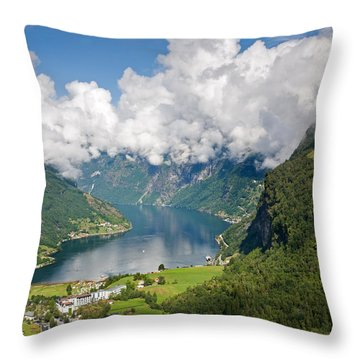 Geirangerfjord Throw Pillow