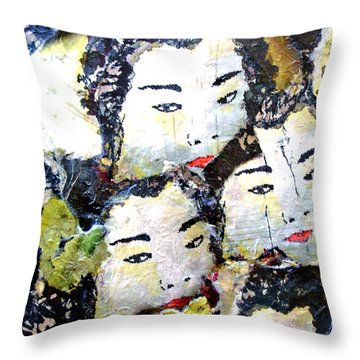 Geisha Girls Throw Pillow