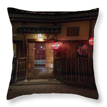Geisha Tea House, Gion, Kyoto, Japan Throw Pillow