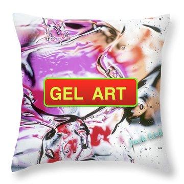 Gel Art #1 Throw Pillow by Jack Eadon