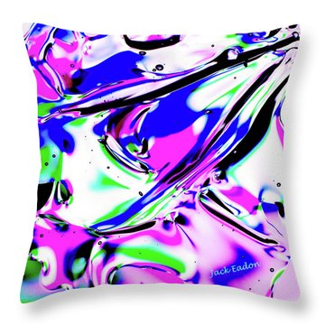 Gel Art#18 Throw Pillow by Jack Eadon