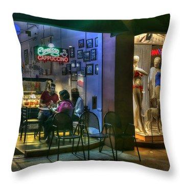 Gelato In La Jolla Throw Pillow