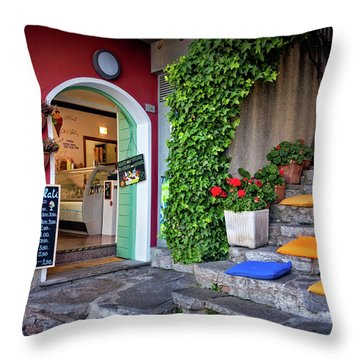 Gelato Shop Throw Pillow