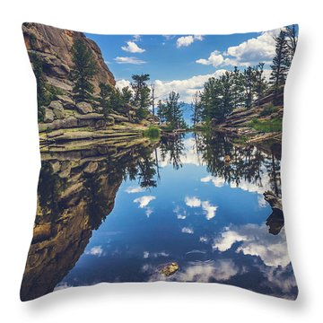 Gem Lake Reflections Throw Pillow