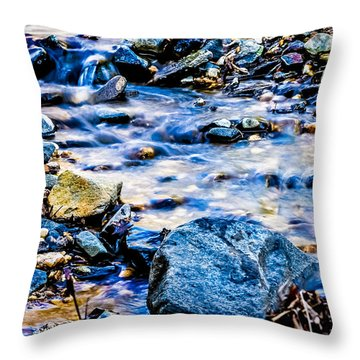 Gem Stones Throw Pillow