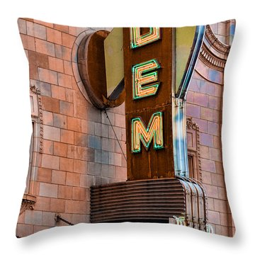 Gem Theater In Kansas City Throw Pillow