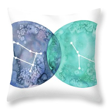 Gemini And Cancer Throw Pillow