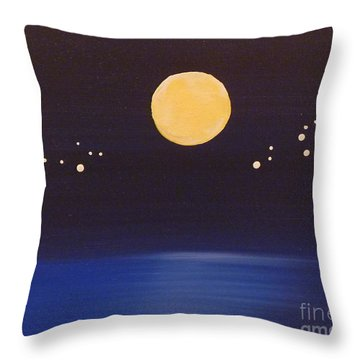Gemini And Leo Throw Pillow by Alys Caviness-Gober