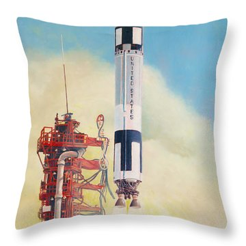 Gemini-titan Launch Throw Pillow