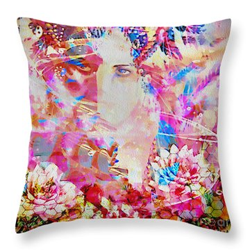 Throw Pillow featuring the photograph Gemini Woman by Eleni Mac Synodinos