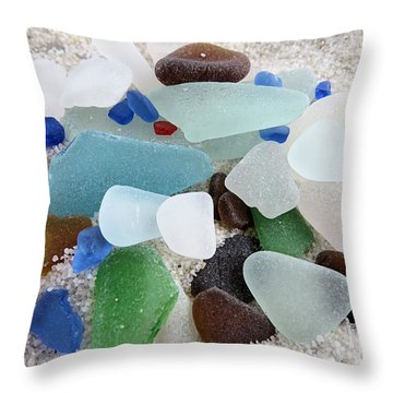 Gems From The Sea Throw Pillow
