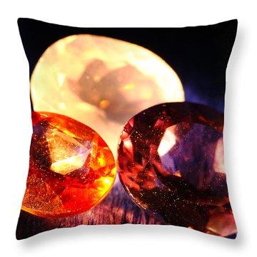Gems Throw Pillow by Gaspar Avila