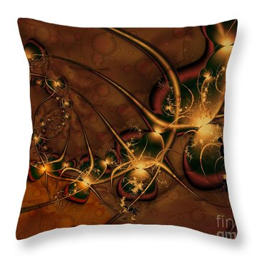 Gems Unearthed Throw Pillow by Michelle H