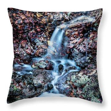 Gemstone Falls Throw Pillow by Az Jackson