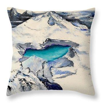 Gemstone Lake Throw Pillow