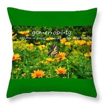 Gen Er Os I Ty  Throw Pillow by Diane E Berry