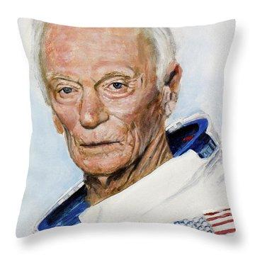 Gene Cernan Throw Pillow by Simon Kregar