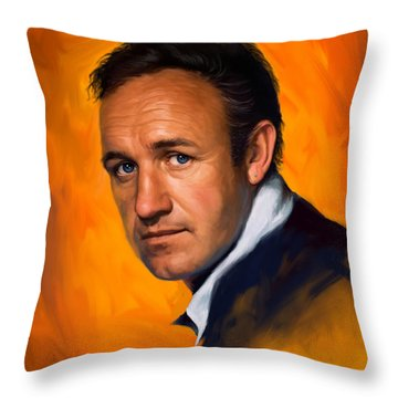 Gene Hackman Throw Pillow by Sam Shacked