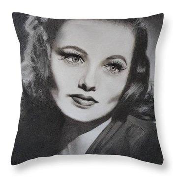 Gene Tierney  Throw Pillow