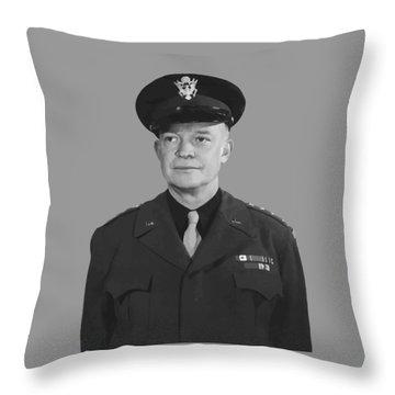 General Dwight D. Eisenhower Throw Pillow by War Is Hell Store