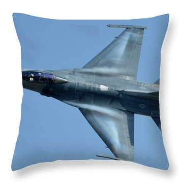General Dynamics F-16c Block 50d Viper 91-0376 Chino California April 29 2016 Throw Pillow by Brian Lockett