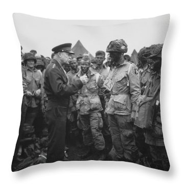 General Eisenhower On D-day  Throw Pillow