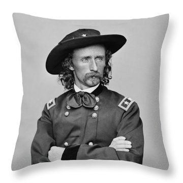 General George Armstrong Custer Throw Pillow by War Is Hell Store