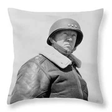 General George S. Patton Throw Pillow by War Is Hell Store