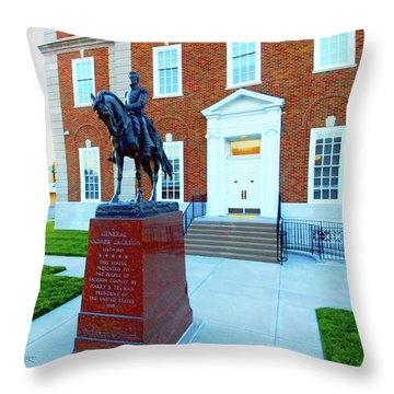 General Jackson County Throw Pillow by Dave Luebbert