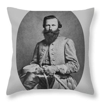 General J.e.b. Stuart - Confederate Army General Throw Pillow