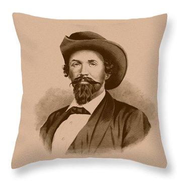 General John Hunt Morgan Throw Pillow