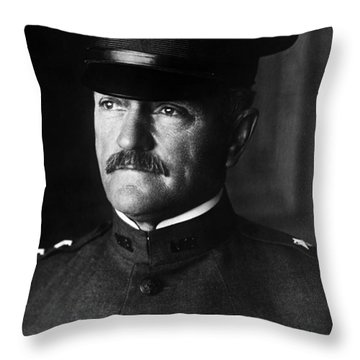 General John Pershing Portrait Throw Pillow