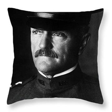 General John Pershing Portrait Throw Pillow