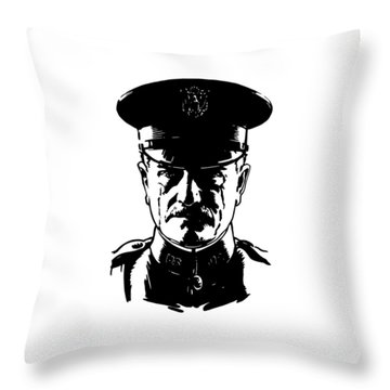 General John Pershing Throw Pillow by War Is Hell Store