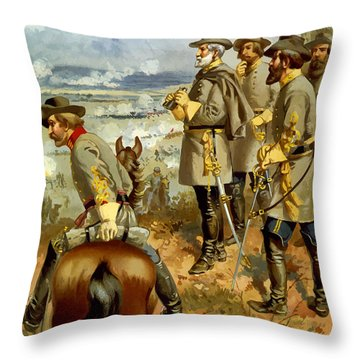 General Lee At The Battle Of Fredericksburg Throw Pillow