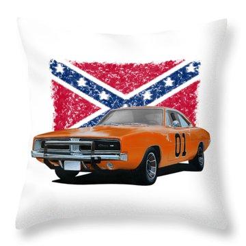 General Lee Rebel Throw Pillow