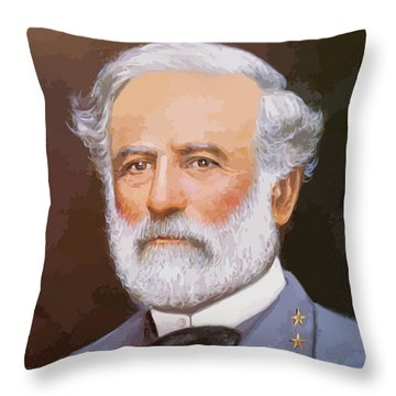 General Lee Throw Pillow by War Is Hell Store