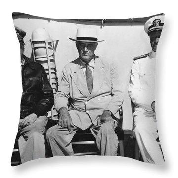 General Macarthur - President Roosevelt - Admiral Nimitz - 1944 Throw Pillow