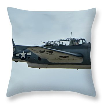 General Motors Tbm-3e Avenger Nx7835c Chino California April 30 2016 Throw Pillow by Brian Lockett