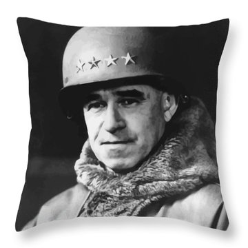 General Omar Bradley Throw Pillow by War Is Hell Store