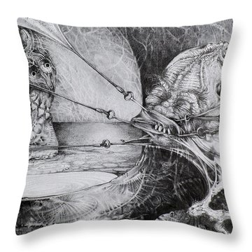 General Peckerwood In Purgatory Throw Pillow by Otto Rapp