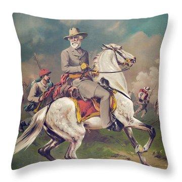 General Robert E. Lee On Horseback Throw Pillow