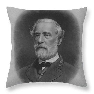 General Robert E. Lee Print Throw Pillow