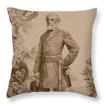 General Robert E. Lee Standing Throw Pillow