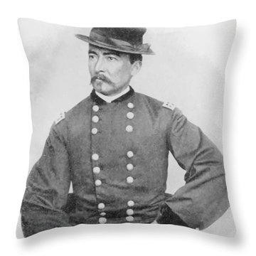 General Sheridan Civil War Portrait Throw Pillow by War Is Hell Store