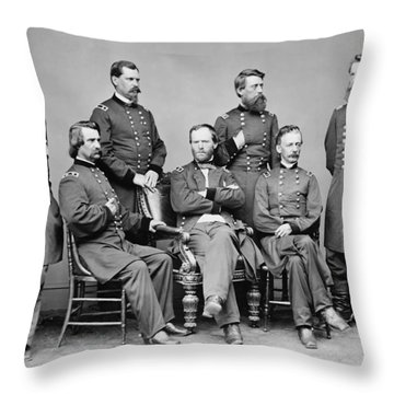 General Sherman And His Staff  Throw Pillow
