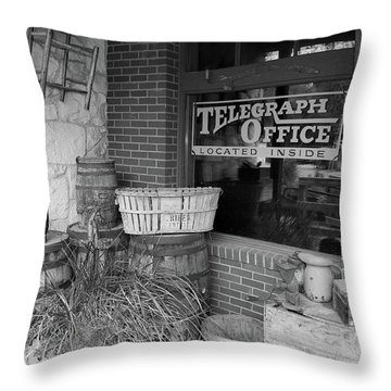 General Store Throw Pillow by Inspirational Photo Creations Audrey Woods
